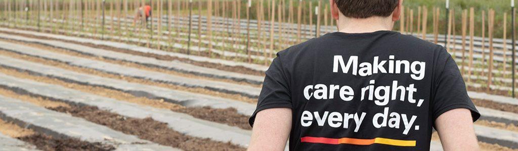 Virginia Premier employee volunteering in a garden
