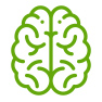 green brain icon