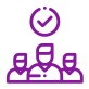 purple accountability icon