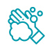 teal handwashing icon