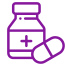 purple icon of pill bottle